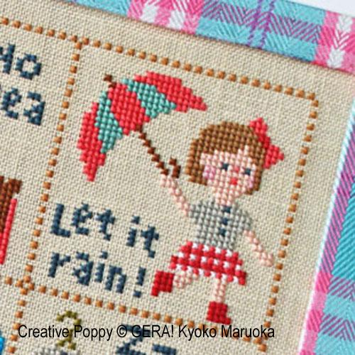 Petite Clara broderie point de croix, création GERA! Kyoko Maruoka, zoom2