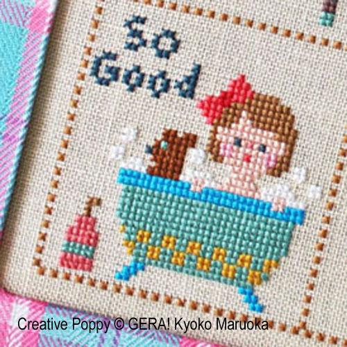 Petite Clara broderie point de croix, création GERA! Kyoko Maruoka, zoom1