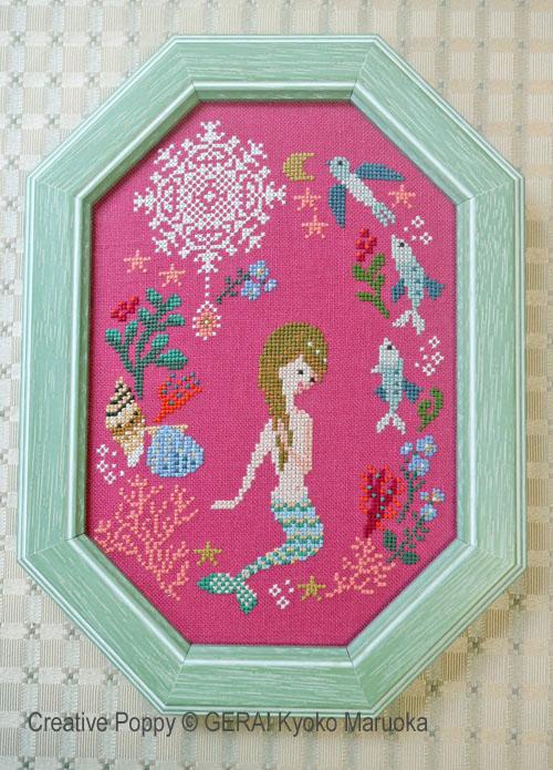 La petite sirène, grille de broderie, création GERA! Kyoko Maruoka