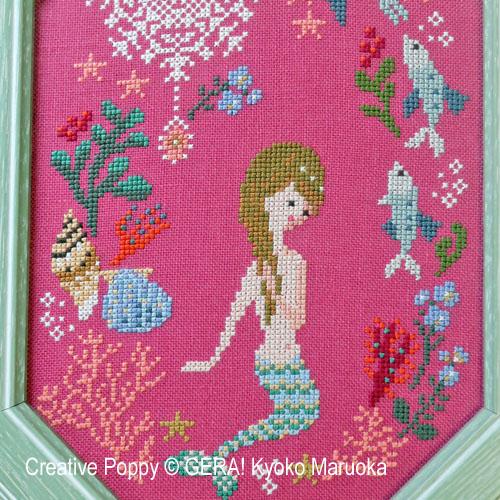 Gera! Kyoko Maruoka - La petite sirène (Contes d'Andersen), zoom 1 (grille de broderie point de croix)