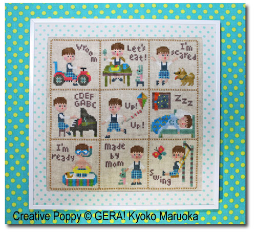 Petit Pierre, grille de broderie, création GARA! Kyoko Maruoka