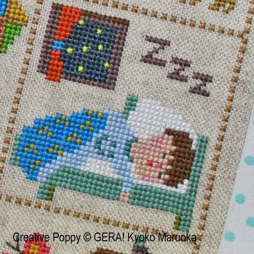 Petit Pierre broderie point de croix, création GARA! Kyoko Maruoka, zoom1