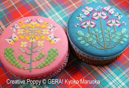 Gera! Kyoko Maruoka - Motifs pour boites rondes 3 (grille de broderie point de croix)