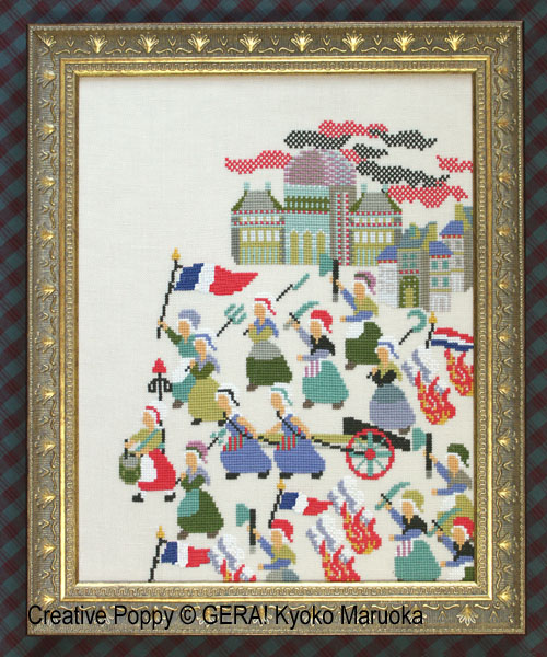 La révolution, grille de broderie, création GERA! Kyoko Maruoka