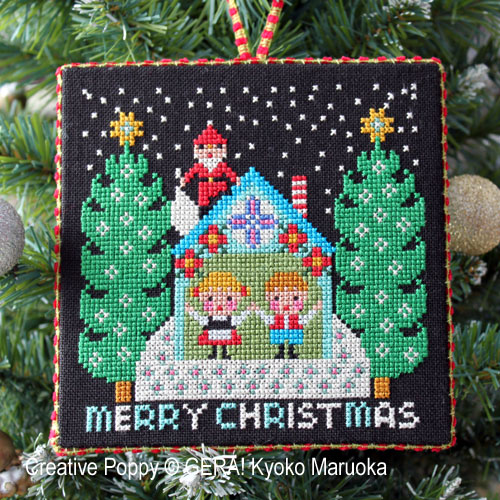 Le Père Noël arrive (I), grille de broderie, création GERA! Kyoko Maruoka