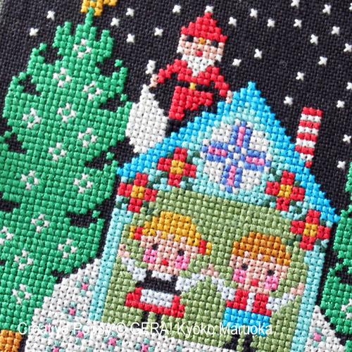 Gera! by Kyoko Maruoka - Santa has come - I zoom 1 (cross stitch chart)