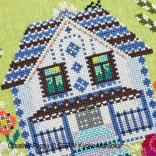 La maison à la mezzanine, grille de broderie, création GERA! Kyoko Maruoka