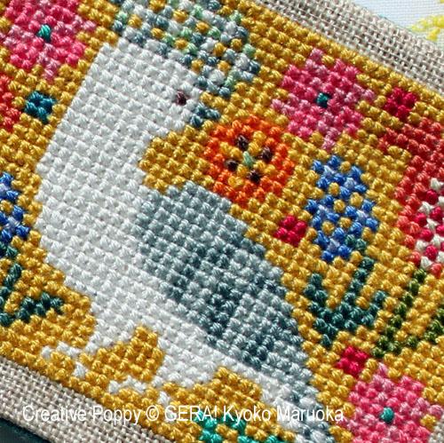 Petits motifs à fleurs N°2, grille de broderie, création GERA! Kyoko Maruoka