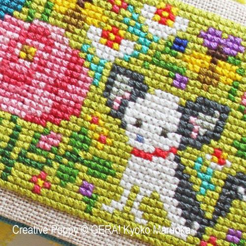 Petits motifs à fleurs N°3, grille de broderie, création GERA! Kyoko Maruoka