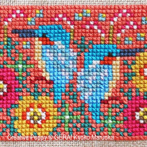 Petits motifs à fleurs N°3 broderie point de croix, création GERA! Kyoko Maruoka, zoom2
