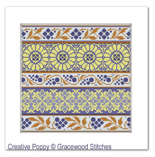 Jour de chance-1, grille de broderie, création Gracewood Stitches