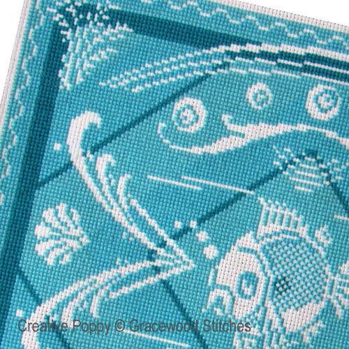 Modèles à broder avec des fils Turquoise