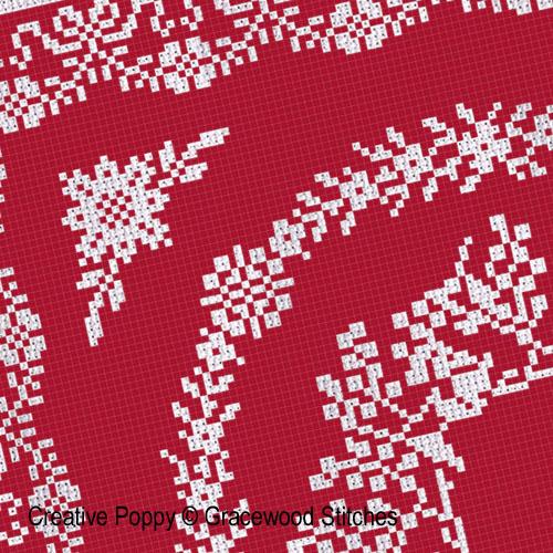 Décembre - Célébration, grille de broderie, création Gracewood Stitches