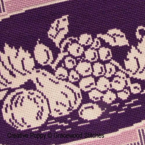 Novembre - Abondance, grille de broderie, création Gracewood Stitches