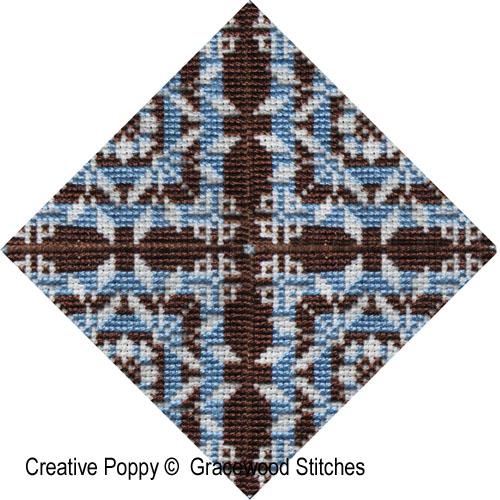 Swatchable - Rondo (Motif et 3 variations) broderie point de croix, création Gracewood Stitches, zoom1