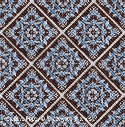 Swatchable - Rondo (Motif et 3 variations) broderie point de croix, création Gracewood Stitches, zoom3