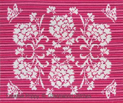 Oeillets - Septembre, grille de broderie, création Gracewood Stitches
