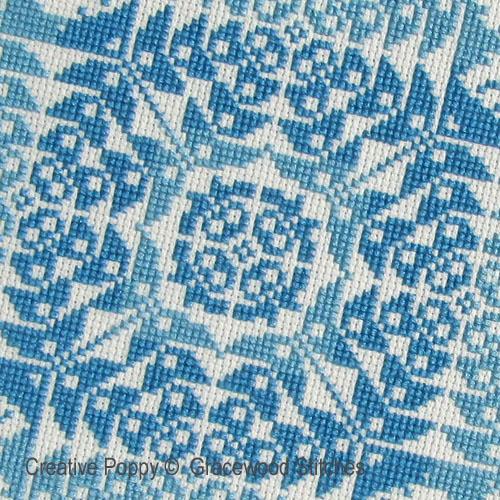 Boutonnière, grille de broderie, création Gracewood Stitches