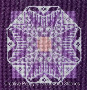 Crépuscule - Ornement à broder, grille de broderie, création Gracewood Stitches