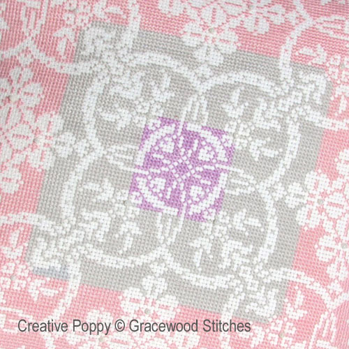 Gracewood Stitches - Aube d'hiver (Collection toiles vintage), zoom 1 (grille de broderie point de croix)