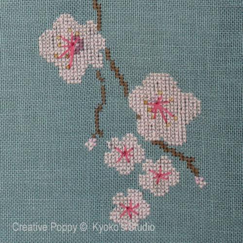 Le vieux cerisier broderie point de croix, création Kyoko's Studio, zoom1
