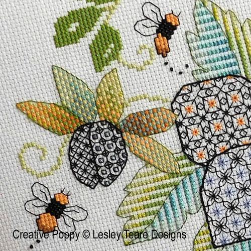 Modèles à broder sur le thème abeilles