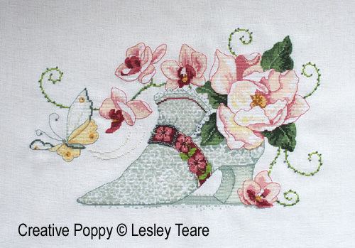 Lesley Teare - Soulier de dentelle (grille de broderie point de croix)