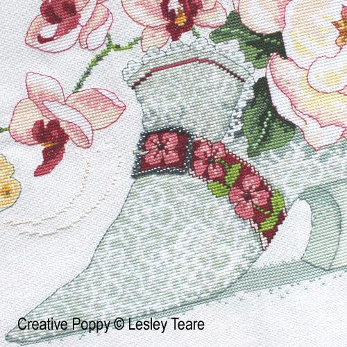 Lesley Teare - Soulier de dentelle, zoom 1 (grille de broderie point de croix)