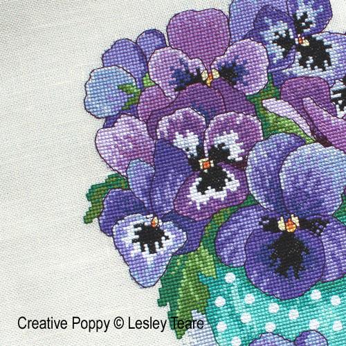 Modèles à broder avec des fleurs