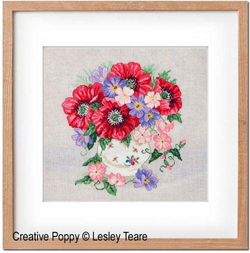 Lesley Teare - Bouquet de coquelicots (grille de broderie point de croix)