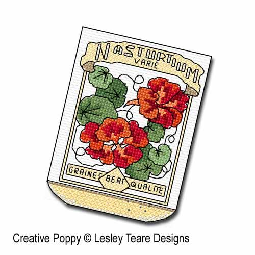 Sachets de graines broderie point de croix, création Lesley Teare, zoom3