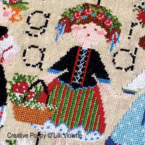 Edelweiss, grille de broderie, création Lilli Violette
