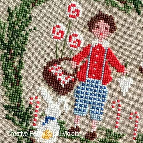 Lilli Violette - Hansel et Gretel, zoom 1 (grille de broderie point de croix)