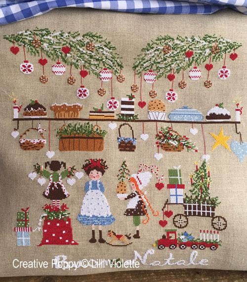 La veille de Noël, grille de broderie, création Lilli Violette