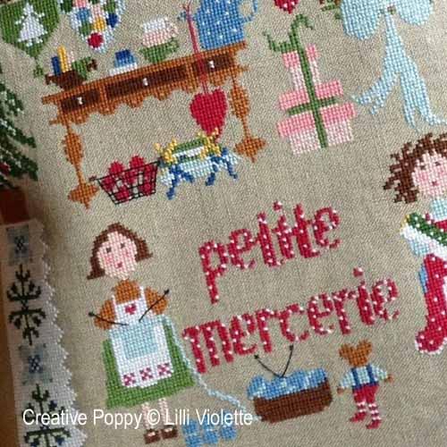 Petite Mercerie broderie point de croix, création Lilli Violette, zoom2