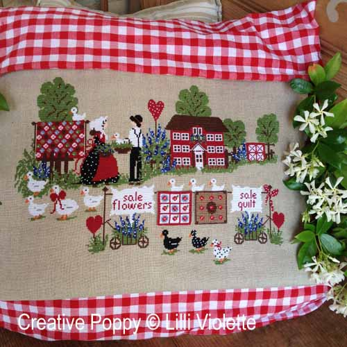 Vente de Quilts, grille de broderie, création Lilli Violette