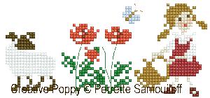 <b>Bonheurs d'enfance, Les moutons GM</b><br>grille point de croix<br>création <b>Perrette Samouiloff</b>