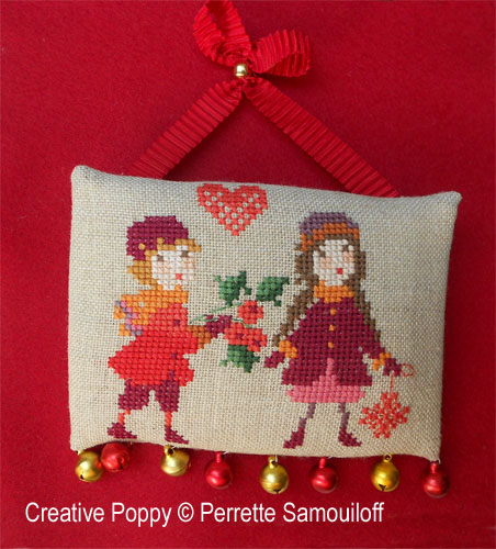 Perrette Samouiloff - Le Noël des enfants - 3 petites broderies, zoom 1 (grille de broderie point de croix)
