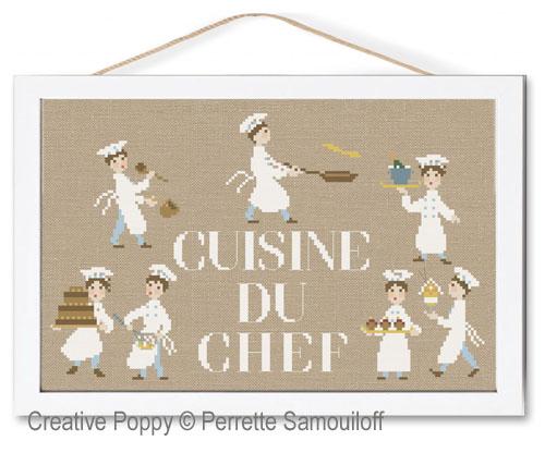 La cuisine du Chef, grille de broderie, création Perrette Samouiloff