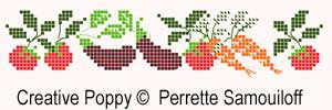 Les délices du jardin, grille de broderie, création Perrette Samouiloff