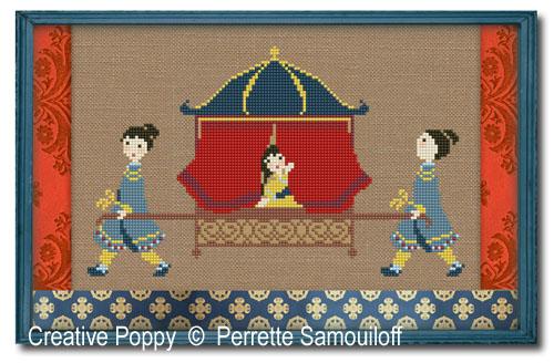 Le palanquin, grille de broderie, création Perrette Samouiloff