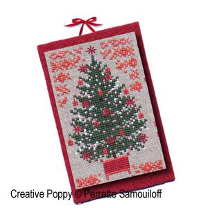8 Motifs de Noël en rouge (format carte)
