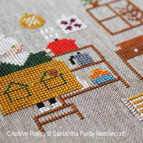 Modèles de broderie avec Cuisine et bon petits plats, création Samantha Purdy