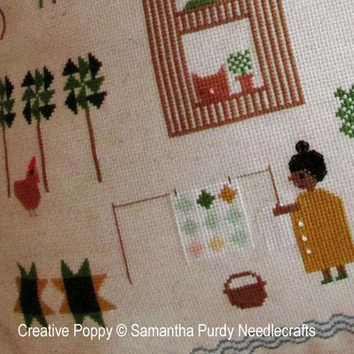 Forêt de Quilts, grille de broderie, création Samantha Purdy