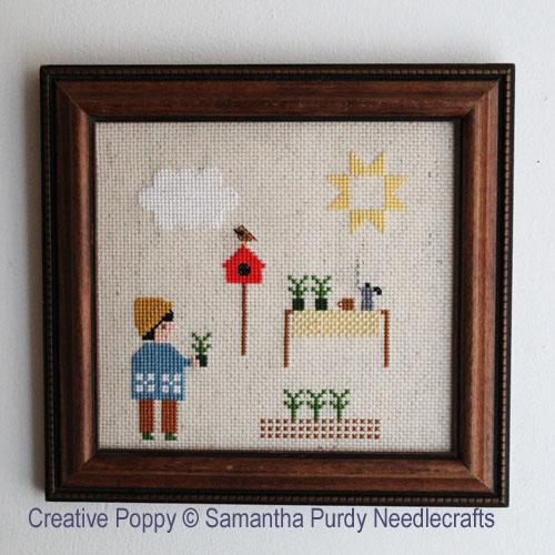 Les plantations, grille de broderie, création Samantha Purdy
