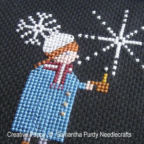 Samantha Purdy - Lumière dans la nuit, zoom 1 (grille de broderie point de croix)
