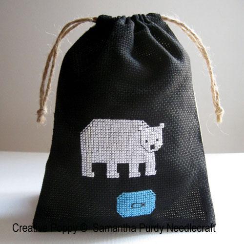 Petits motifs d'animaux, grille de broderie, création Samantha Purdy