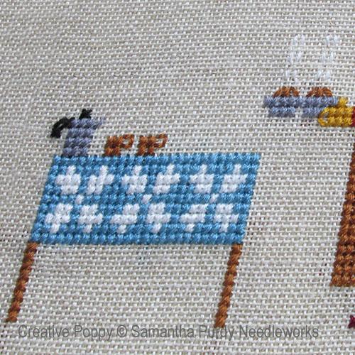 Samantha Purdy - Café et muffins, zoom 1 (grille de broderie point de croix)