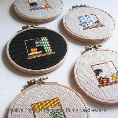 Les fenêtres, grille de broderie, création Samantha Purdy