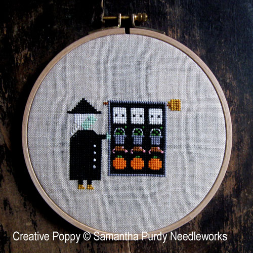 Le quilt de la sorcière, grille de broderie, création Samantha Purdy